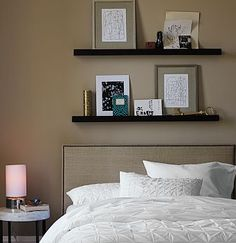 picture ledge over the bed