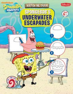 Provides step-by-step instructions for drawing SpongeBob Squarepants and other characters and objects from the popular television program.