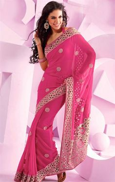 Picture of Angelic Pink Designer Party Wear Saree