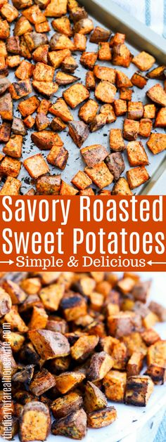 You HAVE to try these amazing Roasted Sweet Potatoes #sweetpotatoes #sweetpotatoes Roasted Vegetable Recipes, Roasted Potato Recipes, Roast Recipes, Roasted Sweet Potatoes, Veggie Recipes, Meal Prep Sweet Potatoes, Roasted Veggie Salad, Roasted Vegetables, Cheese Recipes