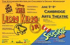 The Lion King Jr with Seussical KIDS - Jun 6 - 9, 2018 #lionking, #disney, #seussical, #cambridge, #actout