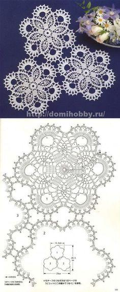 Ажурные мотивы для вязания скатерти или салфетки...♥ Deniz ♥