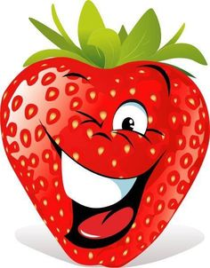 Smiley strawberry sticker
