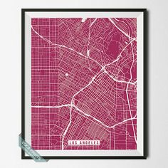 Los Angeles Print California Poster Los Angeles by VocaPrints