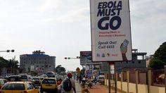 A campaign banner against Ebola