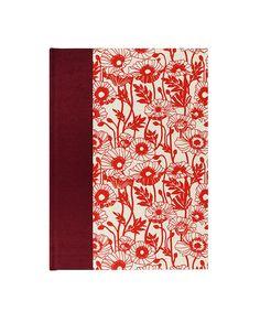 "PERFECT gift for a #Gardener! Garden Record Book Journal ""POPPY GARDEN"" great cover $25 #WolfiesBindery"