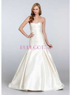 Satin A Line Wedding Dress F