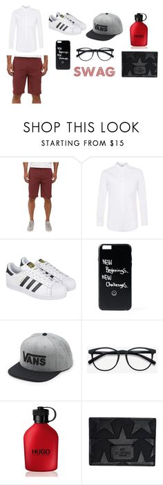 """boy cris"" by castrobia on Polyvore featuring Hurley, Topman, adidas, Vans, HUGO, Valentino, men's fashion and menswear"