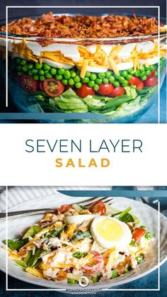 Use up leftover hard-boiled eggs by mixing them into a simple and yummy Seven Layer Salad.