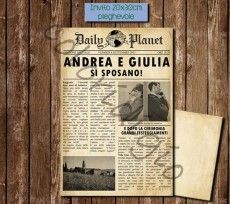 Partecipazioni vintage giornale anni 50