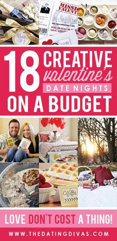 Not only are these Valentine's date ideas creative AND romantic, but they are also CHEAP! So excited to use one of these awesome ideas this year!!!