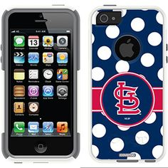 St. Louis Cardinals - Polka Dots Cardinals design on OtterBox® Commuter Series® Case for iPhone 5s / 5 in Boom