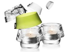 Swappable Tea Lights. Match every tea light holder to any mood or room.