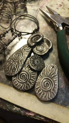 Love My Art Jewelry: Steel Clay: A Peek into my Playtime with a new (to me) Metal Clay