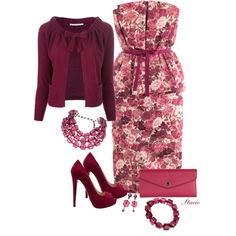"""Berry Hues"" by staciegh on Polyvore"