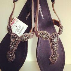 Fabulous jewel sandals from TJMaxx for $29.99
