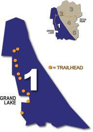Area 1 hiking in RMNP