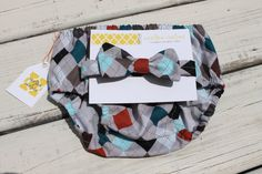 Argyle Bow Tie/Diaper Cover Combo Baby Boy by CrestlineCreatives, $19.99