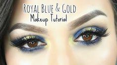 Royal Blue & Gold   Makeup Tutorial   Feat. Urban Decay Gwen Stefani Pal...
