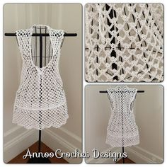 Free Crochet Pattern Beach Cover Up... ♥ By Annoo Crochet
