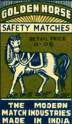 Golden Horse Safety Matches | The Modern Match Industries | Made in India