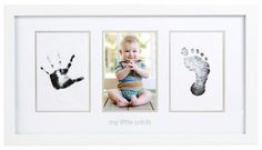 Black Pizies 3 Pack No-Mess Ink Baby Footprint /& Handprint Ink Pad Safe and Non-Toxic Ink Perfect New Baby Girl