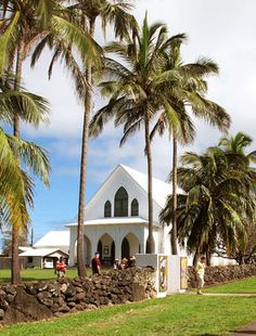 The tiny village of Kalaupapa is studded with churches, including Saint Francis Church.