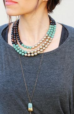 Love this necklace combo!