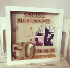 Birthday Frame Special Birthday Frame 50th by HeavenlyBlueByHannah