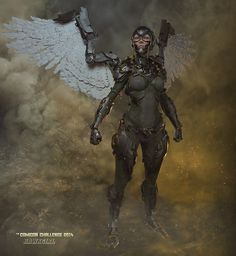 Hawkgirl Comicon Challenge by Nara Zbrush Character, 3d Character, Character Design, Maine, Hawkgirl, Cg Art, Art 3d, Steampunk, Sci Fi Characters