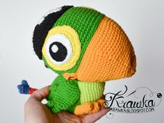 Parrot Crochet Pattern Krawka Skully Parrot Jake And The Never Land Pirates Etsy Pattern Parrot Crochet Pattern Parrot Pals Crochet Pattern Red Heart Amigurumi. Crochet Bird Patterns, Crochet Birds, Crochet Patterns Amigurumi, Crochet Dolls, Crochet Ideas, Diy Crochet Animals, Yarn Animals, Free Crochet Bag, Crochet Box