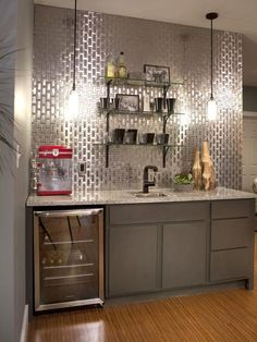 Home Bar Design Ideas for Basements, Bonus Rooms or Theaters : Kitchen Remodeling : HGTV Remodels