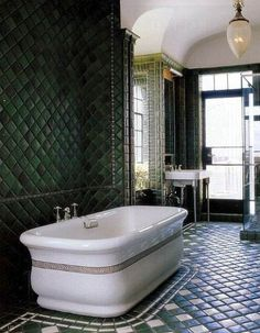 Pewabic tile, amazing light fixture