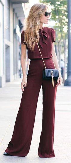 Love this look. Very simple, but glamorous. A COR DE 2015: MARSALA - Juliana Parisi - Blog