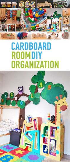 Cardboard Furniture and Toys for Kids Room Cardboard Furniture and Toys for Kids Room Earning and Saving with Sarah Fuller Organizing and Decluttering Get an idea nbsp hellip Cardboard Storage, Cardboard Furniture, Cardboard Crafts, Kids Furniture, Diy Soap Dish Holder, Baby Room Storage, Kids Room Organization, Diy Tutorial, Kids Toys