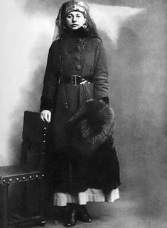 Mata Hari, who spied for the French & Russians, but was accused of spying for the Germans, was executed by the French. Taken on the day of her arrest. Warscapes