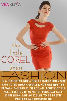 The little corel dress
