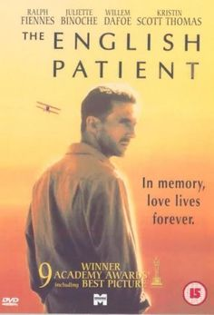 """The English Patient [DVD] [1997] University Library Media / DVD [First floor north] PR 9199.3 O5 E543V 1996A """"The film was released to critical acclaim, and received 12 nominations at the 69th Academy Awards, eventually winning nine, including Best Picture, Best Director for Minghella and Best Supporting Actress for Juliette Binoche."""""""