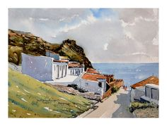 Vila dos Pescadores - Berlenga Portugal, Paintings, Art, Water Colors, Art Background, Paint, Painting Art, Kunst, Performing Arts