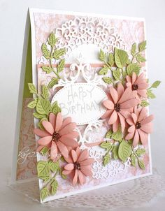 Hi! Welcome back to another card using several Cheery Lynn Designs Die Cuts. I was in the shabby chic mode when I decided to make this...
