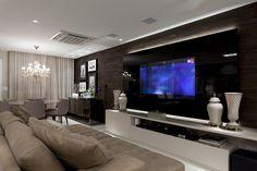 Salas de estar, jantar, tv e varanda integradas, chiquérrimas e decoradas com cactos! - DecorSalteado