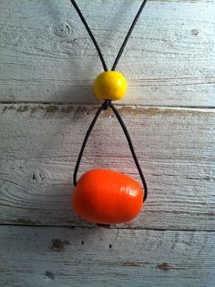 Orange Yellow Ceramic Necklace, Caribbean Colors, Spring Fashion, Ceramic Jewelry