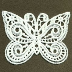 FSL Decorative Butterfly 2, 5 - 4x4 | FSL - Freestanding Lace | Machine Embroidery Designs | SWAKembroidery.com Ace Points Embroidery