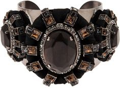 Lanvin Brown Cluster Cuff