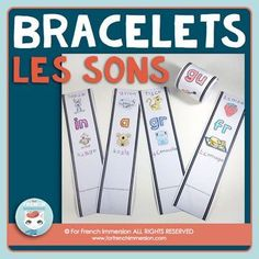 French Phonics Resources: French sounds bracelets with over 80 bracelets for kids to learn their French sounds! En français.
