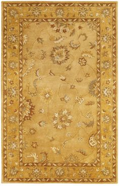 Dynamic Rugs Charisma 1416 x Gold Area Rug Complimentary Color Scheme, Dynamic Rugs, Rectangle Area, Classic Rugs, Yellow Rug, Gold Rug, Discount Rugs, Traditional Rugs, Gold Material