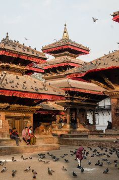 Kathmandu, Nepal paseando x su plaza te sientes en paz