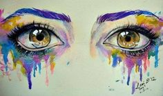 Image about art in Drawings by Ana on We Heart It Watercolor Eyes, Watercolor Paintings, Illustrations, Illustration Art, Realistic Eye Drawing, Eye Art, Beautiful Drawings, Beautiful Eyes, Pretty Art