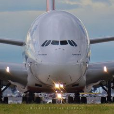 Emirates Airlines Airbus A380 at Melbourne airport