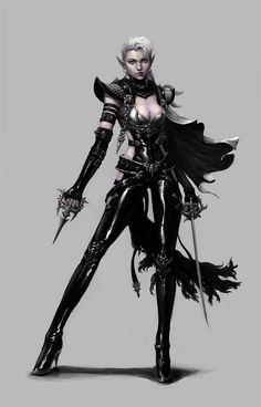 Dark elf assassin by ~dimelife on deviantART